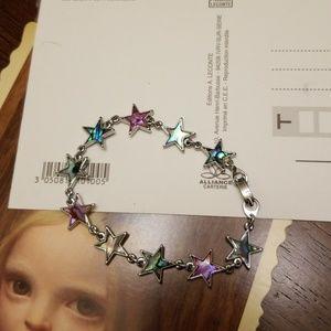 Jewelry - Vtg. Abalone Stars Bracelet